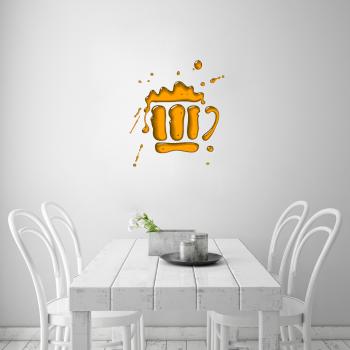 Barevná samolepka na zeď - Pivo