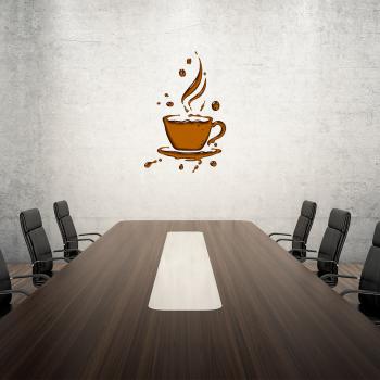 Barevná samolepka na zeď - Káva 2