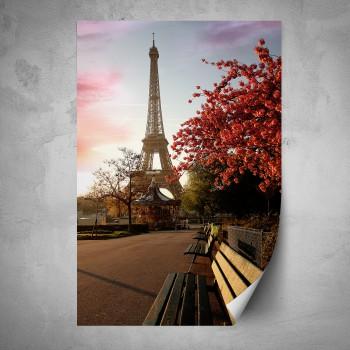 Plakát - Podzimní Eiffelova věž