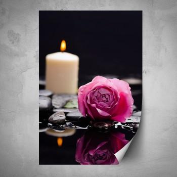 Plakát - Růže na černém pozadí