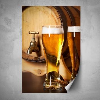 Plakát - Pivní sklenice