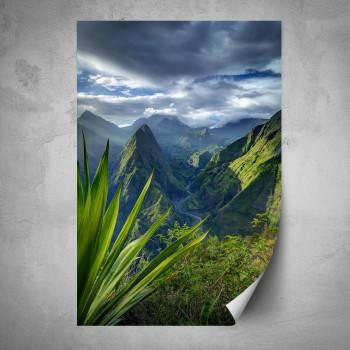 Plakát - Krajina na horách