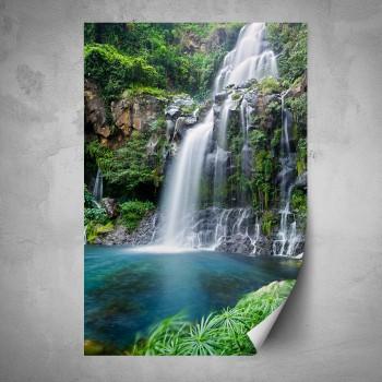 Plakát - Vodopád v pralese