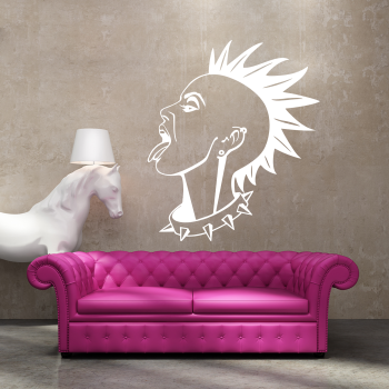 Samolepka na zeď - Punkerka