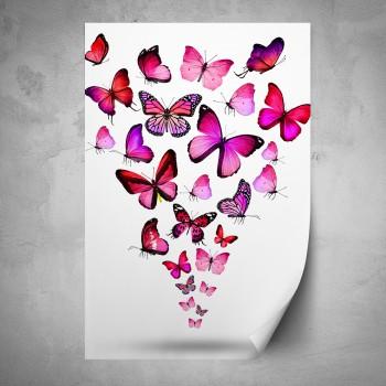 Plakát - Růžoví motýli