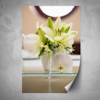 Plakát - Bílé lilie