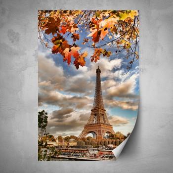 Plakát - Podzimní Eiffelova věž 2