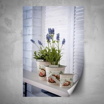 Plakát - Levandule na okně