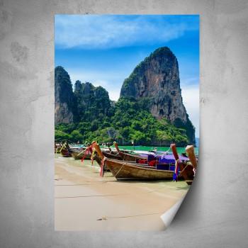 Plakát - Lodě na pobřeží