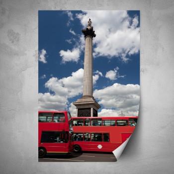 Plakát - Červené autobusy