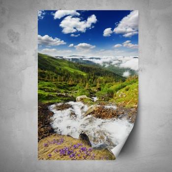 Plakát - Řeka v horách
