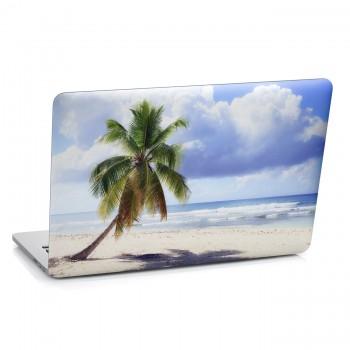 Samolepka na notebook - Palma na pláži