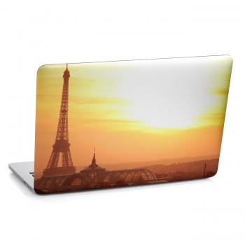 Samolepka na notebook - Západ slunce v Paříži