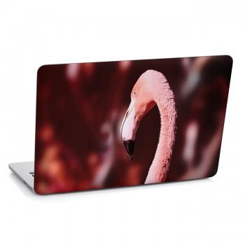 Samolepka na notebook - Hlava plameňáka
