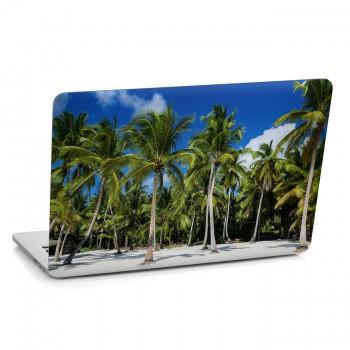 Samolepka na notebook - Palmy na pláži