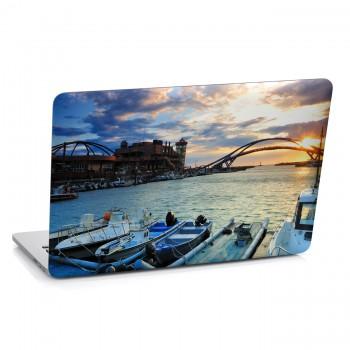 Samolepka na notebook - Večerní přístav