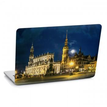 Samolepka na notebook - Noční město