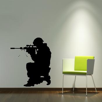 Samolepka na zeď - Sniper
