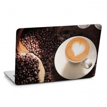Samolepka na notebook - Zrnka kávy