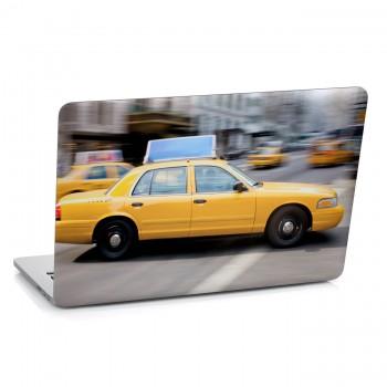 Samolepka na notebook - Žluté taxi