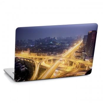 Samolepka na notebook - Noční velkoměsto