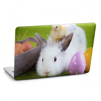 Samolepka na notebook - Velikonoční králíček