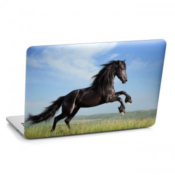 Samolepka na notebook - Hnědý kůň
