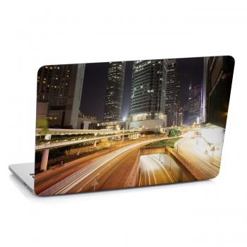 Samolepka na notebook - Noční doprava