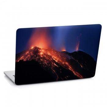 Samolepka na notebook - Chrlící sopka