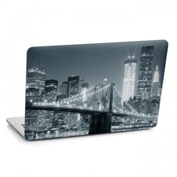Samolepka na notebook - Černobílé město