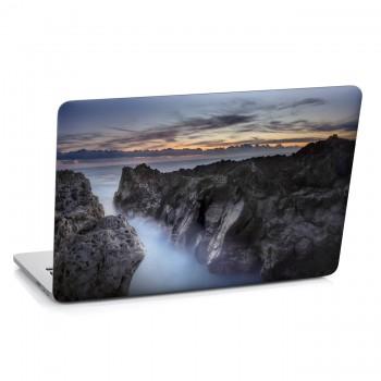 Samolepka na notebook - Mlha mezi útesy
