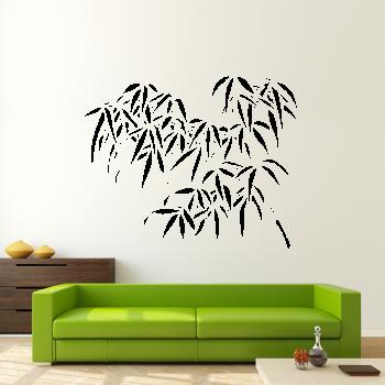 Samolepka na zeď - Bambusová větvička