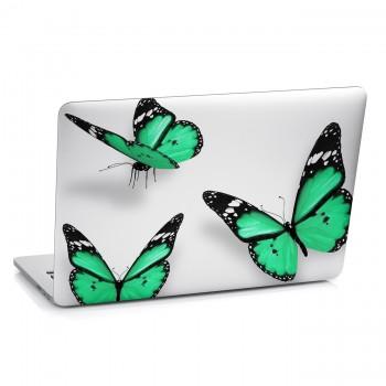 Samolepka na notebook - Zelení motýlci