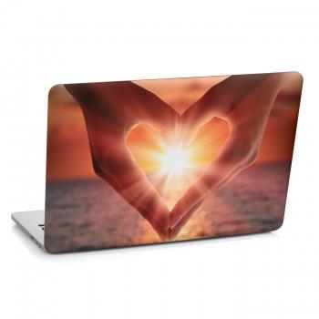 Samolepka na notebook - Srdce