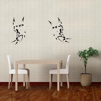 Samolepka na zeď - Motýl 1+1