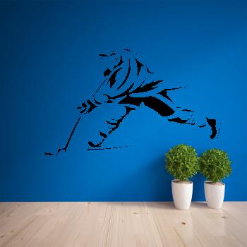 Samolepka na zeď - Střílející hokejista