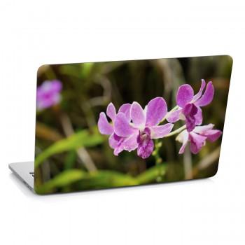 Samolepka na notebook - Fialová orchidej