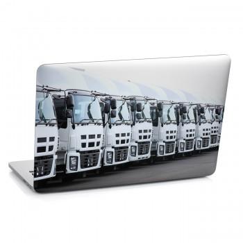 Samolepka na notebook - Řada kamiónů