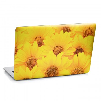 Samolepka na notebook - Žluté květy