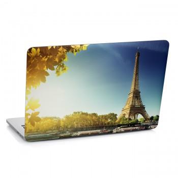 Samolepka na notebook - Podzimní Paříž