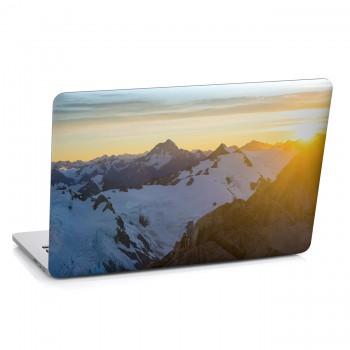 Samolepka na notebook - Zimní hory