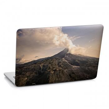 Samolepka na notebook - Sopečný dým