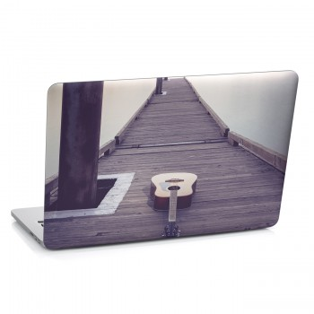 Samolepka na notebook - Kytara na molu