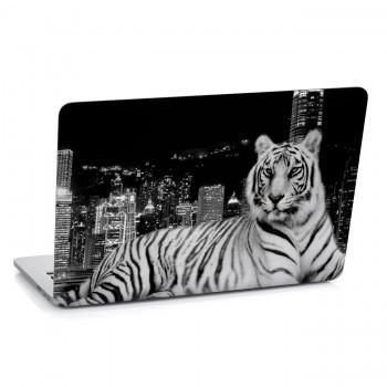Samolepka na notebook - Černobílý tygr