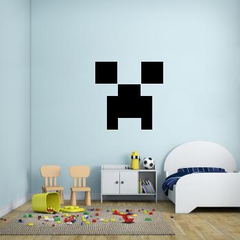 Samolepka na zeď - Minecraft face