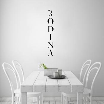 Samolepka na zeď - Rodina nápis