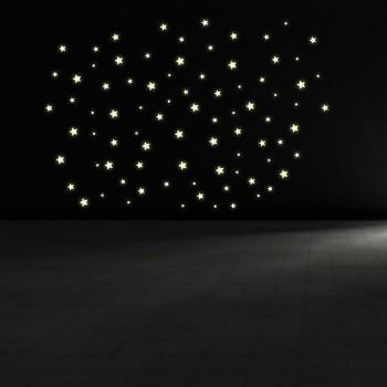 Svíticí samolepka na zeď - Hvězdy