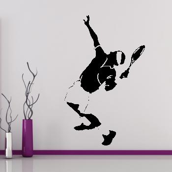Samolepka na zeď - Podávající tenista
