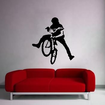 Samolepka na zeď - BMX cyklista