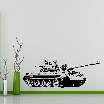 Samolepka na zeď - Tank